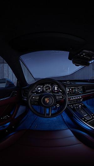 911 Turbo S Interaktiv Interieur Nacht